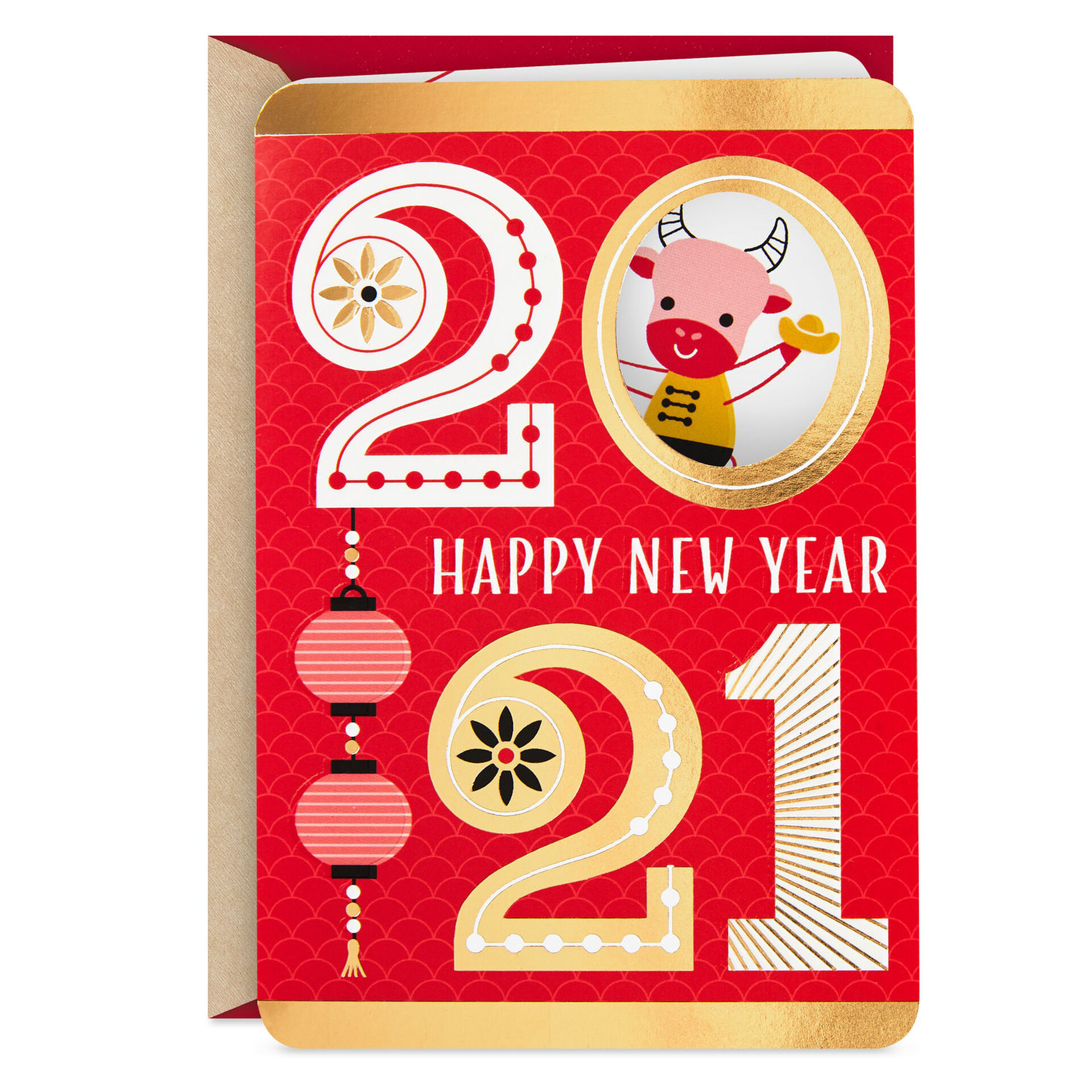 Year of the Ox 2021 Chinese New Year Card - Greeting Cards ...