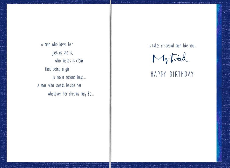 It Takes A Special Man Dad Birthday Card From Daughter Greeting