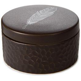 Natural Ceramic Lidded Jar, , large