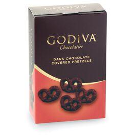 Godiva Chocolatier Dark Chocolate Covered Pretzels in Box, , large