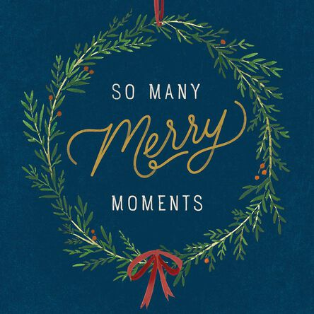 So many merry moments wreath musical christmas card greeting cards so many merry moments wreath musical christmas card m4hsunfo