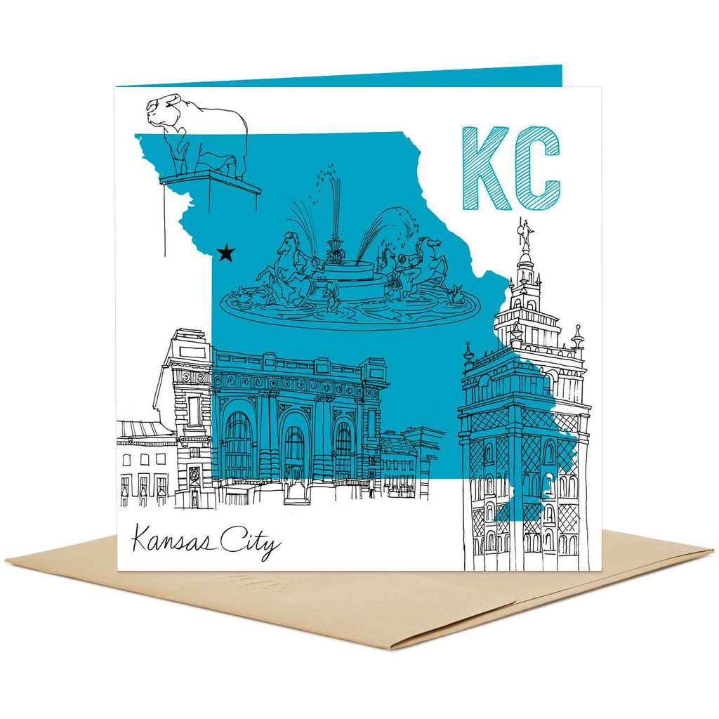 kansas city sketched icons blank card greeting cards hallmark