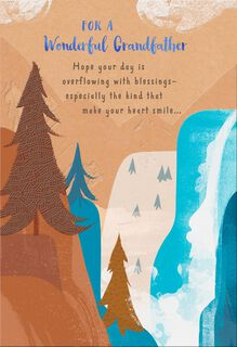 Mountain View Religious Father's Day Card for Grandfather,