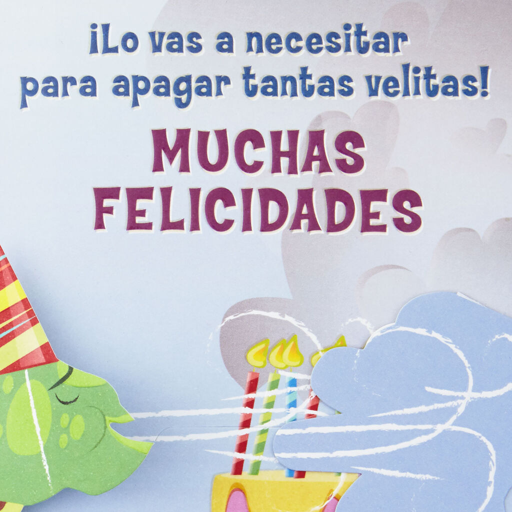 Take A Deep Breath Spanish Language Funny Pop Up Birthday Card