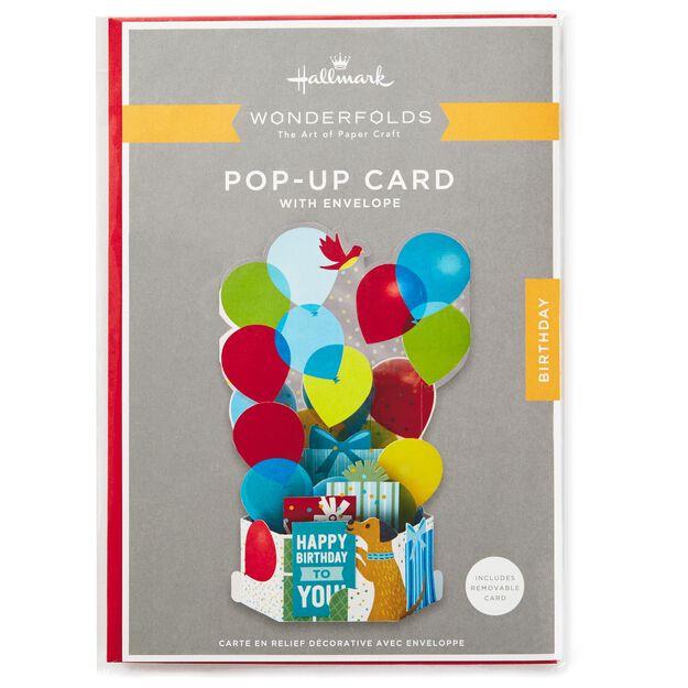Burst of Balloons Pop Up Birthday Card Greeting Cards Hallmark – Pop Up Birthday Card