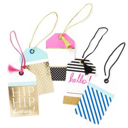 Celebrate Assorted Luggage Gift Tags, Pack of 5, , large