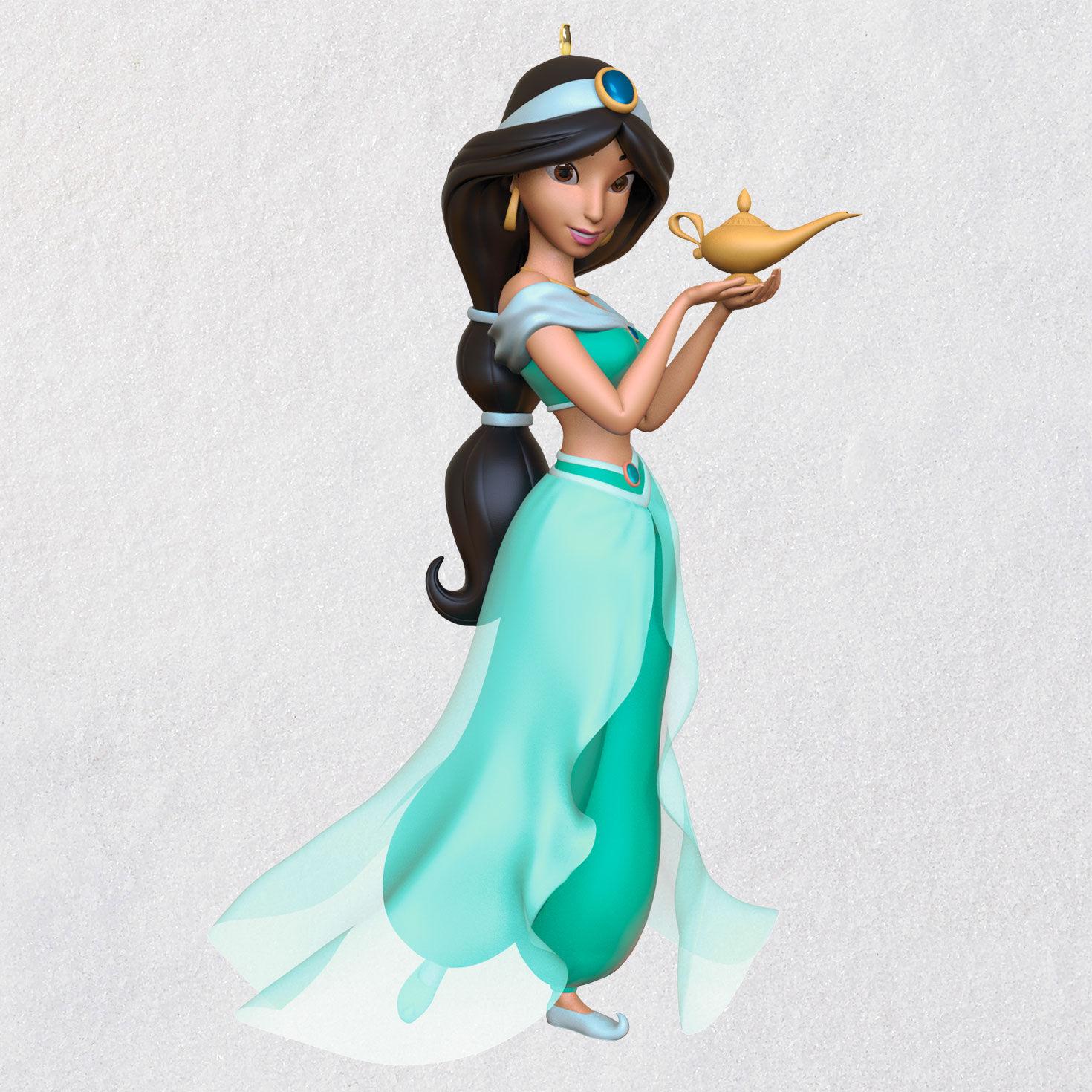Disney Princess Jasmine glittering Christmas Ornament Aladdin