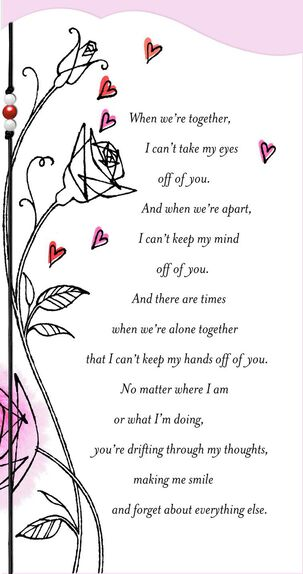 Deep Love Roses and Hearts Valentine's Day Card
