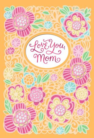 Love You, Mom Floral Mother's Day Card