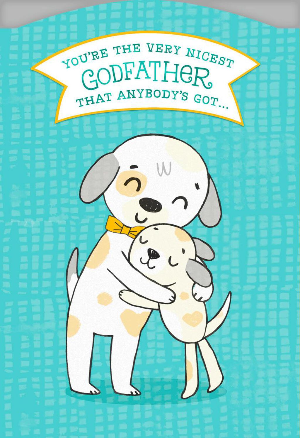 Hugging Dogs Birthday Card For Godfather