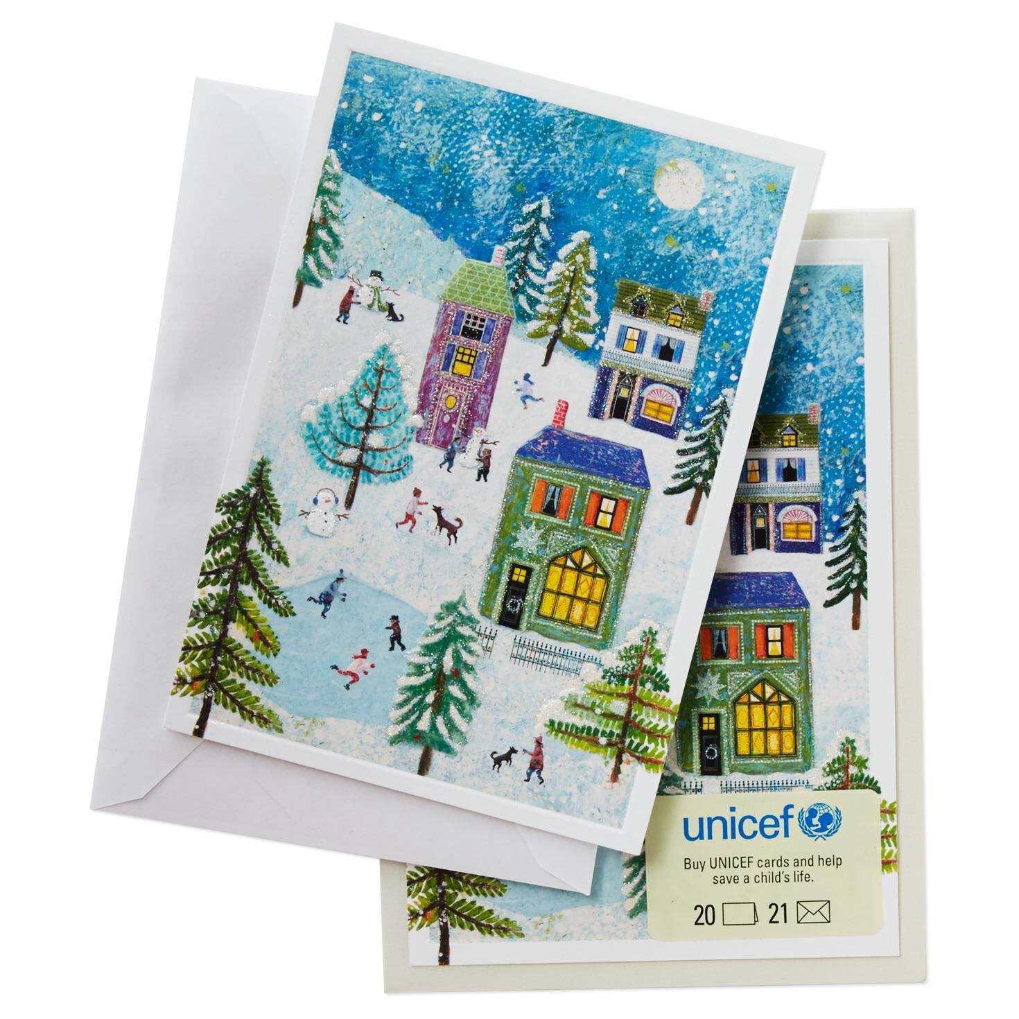 UNICEF Holiday Scene Christmas Cards, Box of 20 - Boxed Cards ...