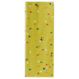 Citron Yellow Confetti Pattern Tissue Paper, 6 sheets, , large