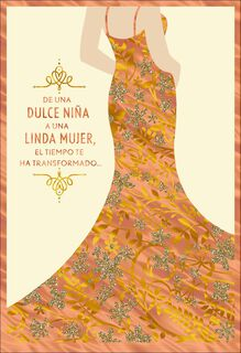 A Beautiful Young Woman Spanish-Language Quinceañera Card,
