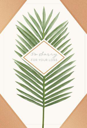 Palm Leaf Sympathy Card