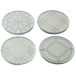 Heritage Glass Coasters, Set of 4, , large