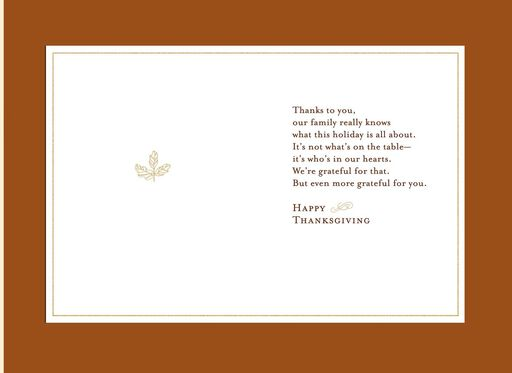 Mom and Dad From Us Thanksgiving Card,