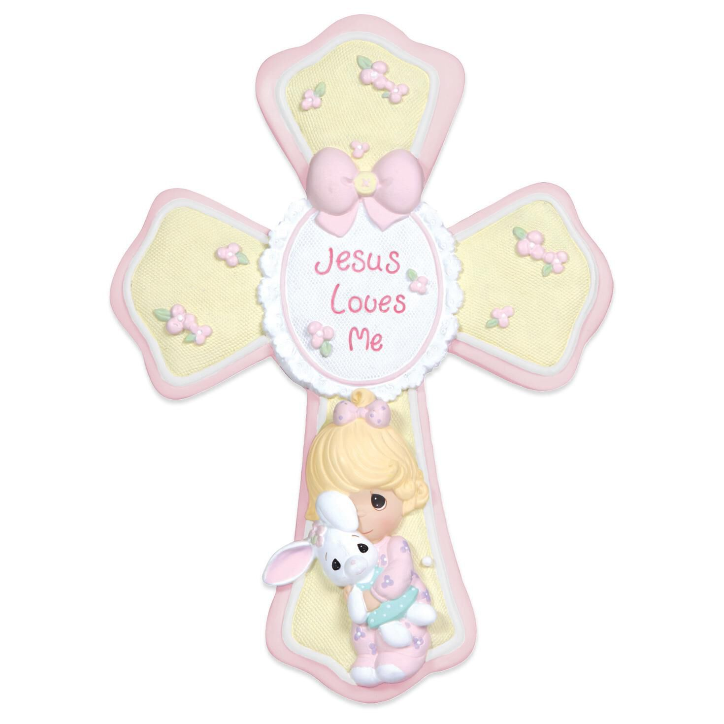 Precious Moments® Jesus Loves Me Cross for Girl - Decorative ...