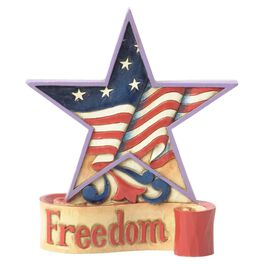 Jim Shore® Freedom Mini Patriotic Star Figurine, , large