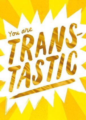 Trans-tastic Gold Burst Blank Card