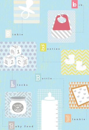"""B"" Is for Baby New Baby Card"