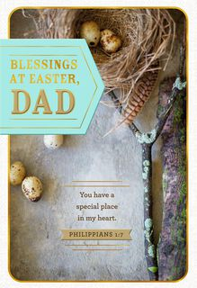 Thinking of You Religious Easter Card for Dad,
