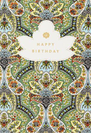 Golden Moments Birthday Card