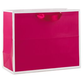 "Raspberry Large Gift Bag, 10.5"", , large"
