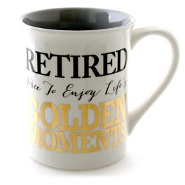 Our Name is Mud Golden Moments Retirement Mug, 16 oz., , large