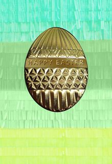 Golden Egg With Fringe Easter Card,