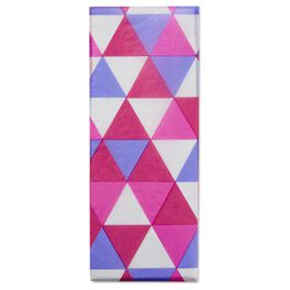 Triangle-patterned Raspberry/Purple/White Tissue Paper, , large