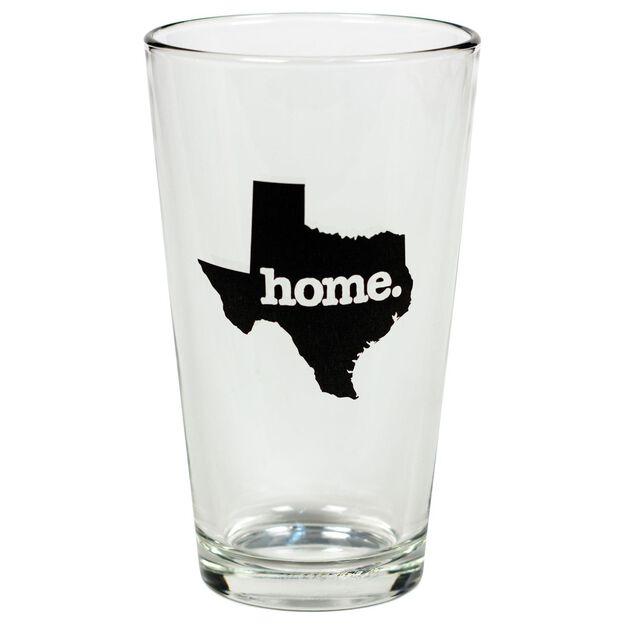 texas home state silhouette pint glass 16 oz