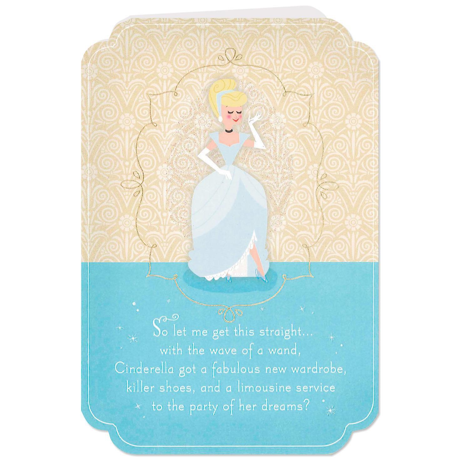 Disney Cinderella Wishing You a Fairy Godmother Birthday Card