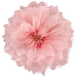 "Pink Tissue Paper Flower Bow, 5.75"", , large"