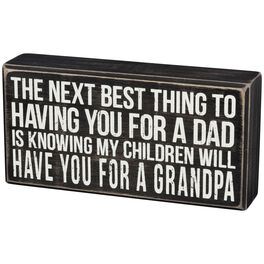 "Primitives by Kathy ""Next Best Grandpa"" Wood Box Sign, , large"