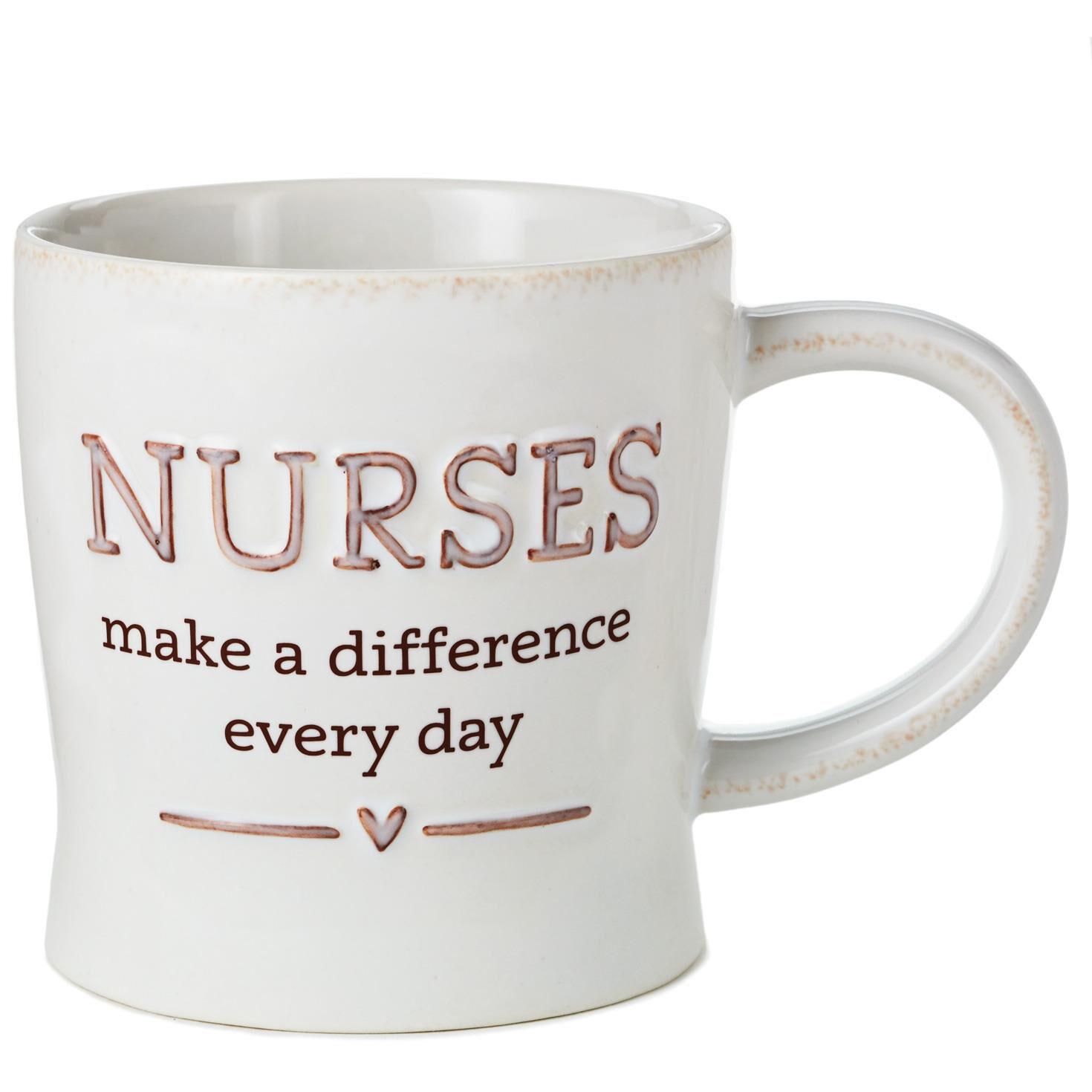 Nurses Make a Difference Ceramic Mug, 12 oz