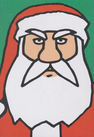 Santa Sees Everything Funny Christmas Card