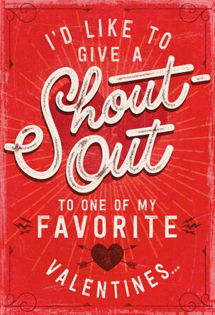 Shout Out Recordable Valentine's Day Card