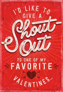 Shout Out Recordable Valentine's Day Card,