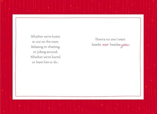 You Beside Me Valentine's Day Card,
