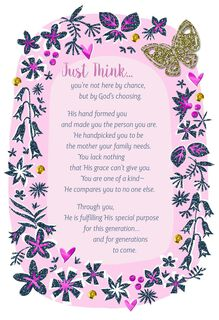 God Chose You for Our Family Religious Mother's Day Card,