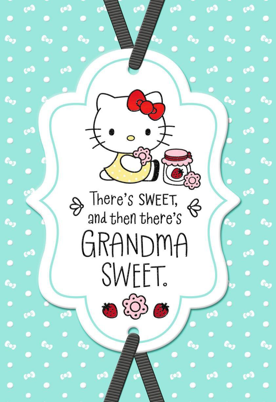 Hello Kitty Sweet Birthday Card For Grandma Greeting Cards Hallmark