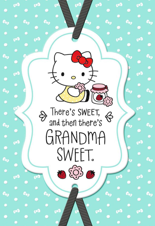Hello KittyR Sweet Birthday Card For Grandma