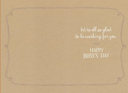 7113de4fcd All Glad to Work for You Boss's Day Card From ...