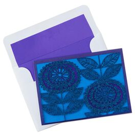 Flower Vine in Blue and Purple Note Cards, Pack of 8, , large