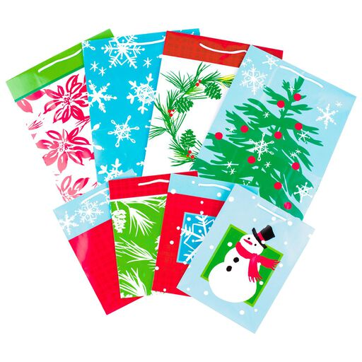 48beaa335f59 ... Holiday Icons 8-Pack Medium and Large Gift Bags