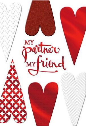 My Partner My Friend Valentine's Day Card