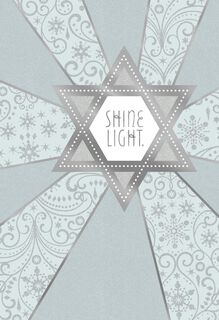 Shine Light Star of David Hanukkah Card,