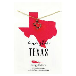 State of Texas Necklace in 14k Yellow Gold-Plate, , large