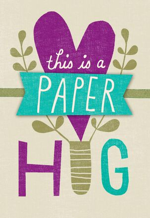 Paper Hug for Mom Card