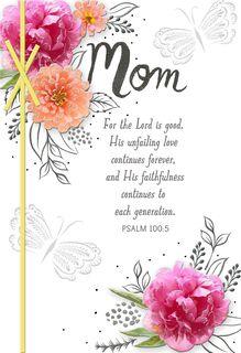 Spring Flowers Religious Easter Card for Mom,